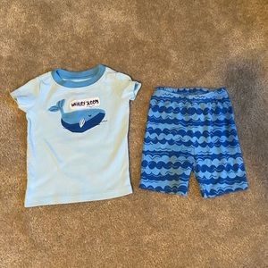 18-24M Boys Blue Whale Outfit